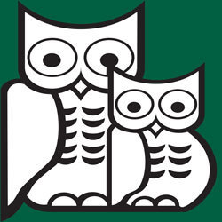 St Catharines Public Library Thick Line Owl