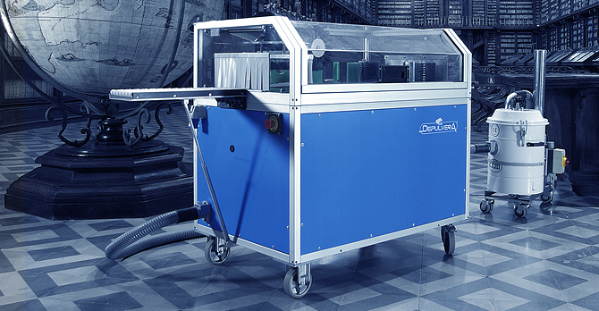 Depulvera Automatic Book Cleaning Machine - Ristech