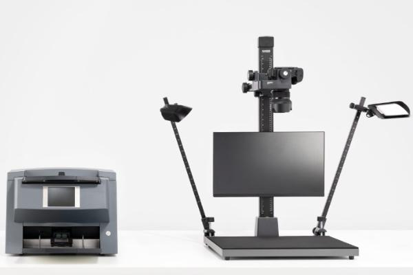 Hybrid workstation with KAS archive scanner
